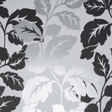 Black/White Leaf Wallcovering by Clarke & Clarke