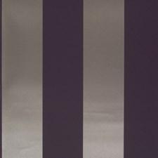 Damson Stripe Wallcovering by Clarke & Clarke