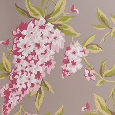 Taupe Floral Large Wallcovering by Clarke & Clarke