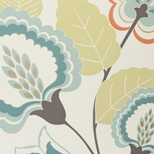 Spice Floral Large Wallcovering by Clarke & Clarke