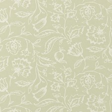 Sage Floral Medium Wallcovering by Clarke & Clarke