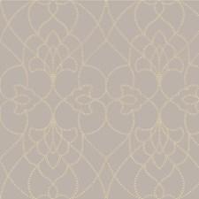 Beige/Lavender/Metallic Contemporary Wallcovering by Kravet Wallpaper