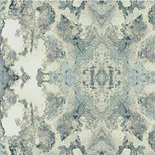 Teal/Ivory/Light Blue Modern Wallcovering by Kravet Wallpaper