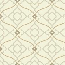 Ivory/Light Grey/Beige Lattice Wallcovering by Kravet Wallpaper
