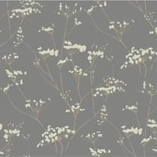 Silver/Beige/Ivory Botanical Wallcovering by Kravet Wallpaper