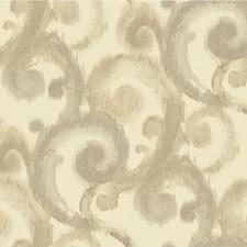 Beige/Ivory/Silver Modern Wallcovering by Kravet Wallpaper