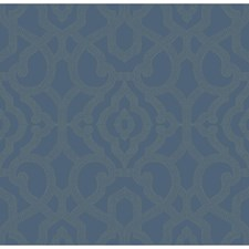 Blue/Light Grey Lattice Wallcovering by Kravet Wallpaper