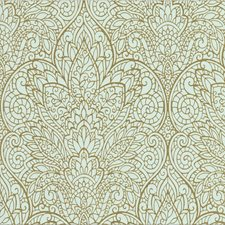 Light Blue/Gold/Metallic Damask Wallcovering by Kravet Wallpaper