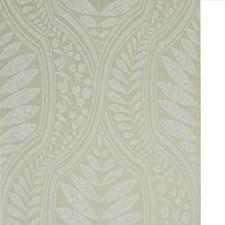 Green/White Botanical Wallcovering by Kravet Wallpaper