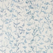 White/Blue/Spa Botanical Wallcovering by Kravet Wallpaper