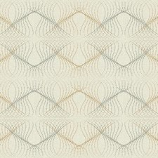 Beige/Bright Silver/Golden Brown Dots Wallcovering by York