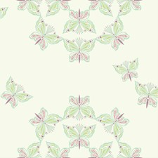White/Mint/Pink Animals Wallcovering by York