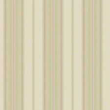 Beige Sheen/Light Green/Purple Stripes Wallcovering by York