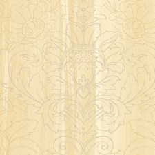 Cream/Gold Wallcovering by Scalamandre Wallpaper