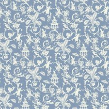 Wedgwood Blue/White Toile Wallcovering by York