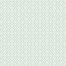 Blue Chambray/White/Pale Grey Geometrics Wallcovering by York