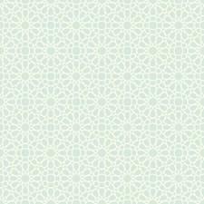 Aquamarine/Cream Geometrics Wallcovering by York