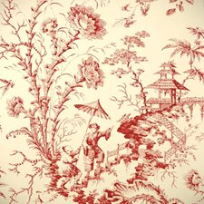 Claret Hand Printed Wallcovering by Scalamandre Wallpaper