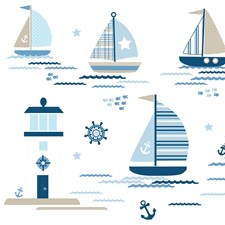 WPK1802 Ships Ahoy Wall Art Kit by Brewster