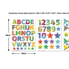 WT44920 ABC Learn With Me Wall Art Kit by Brewster