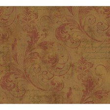 Gold/Russet Traditional Wallcovering by York