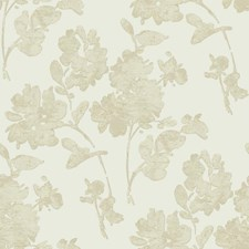 Cream/Taupe/Gold Floral Wallcovering by York
