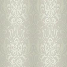 Silvery Beige/Cream Damask Wallcovering by York