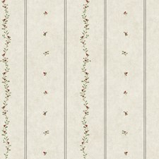 Oyster Grey/Barn Red/Olive Green Small Prints Wallcovering by York