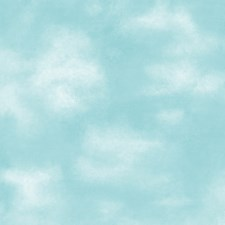 Deep Sky Blue/Cloud White Wall Decor Wallcovering by York