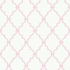 White/Pink Baby Wallcovering by York