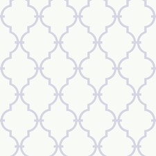 White/Soft Lavender Trellis Wallcovering by York