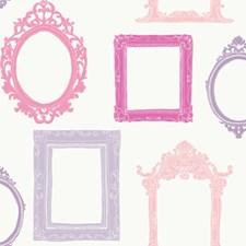 Warm White/Lavendar/Pinks Ornate Wallcovering by York