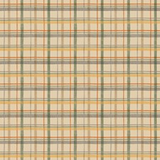 Khaki Beige/Soot Gray/Silver Sage Check Wallcovering by York